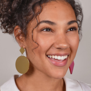 Isabel Marant - Pink and Gold Geometric Earrings