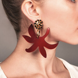 Marni - Floral Drop Clip On Earrings
