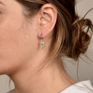 Rebecca Pinto - Diente Dangle Hoop Earrings (14k Yellow Gold)